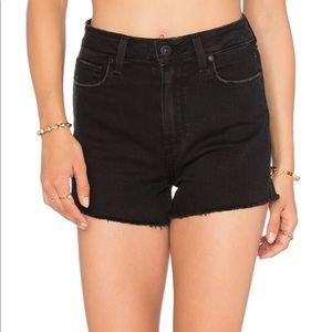 PAIGE Margot High Rise Cutoff Shorts Vintage Black